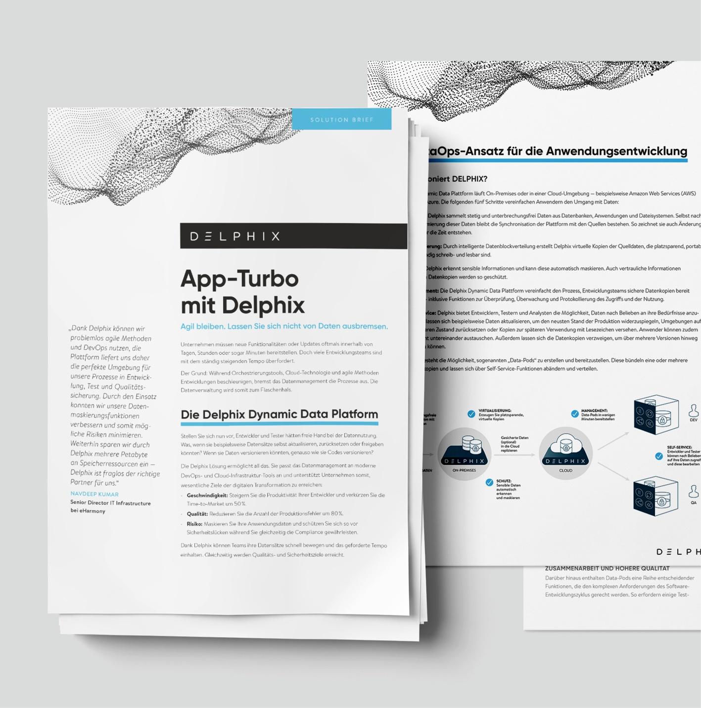 Delphix: Auftrag über Akima Media, Mehrere Whitepaper – 4-seitig