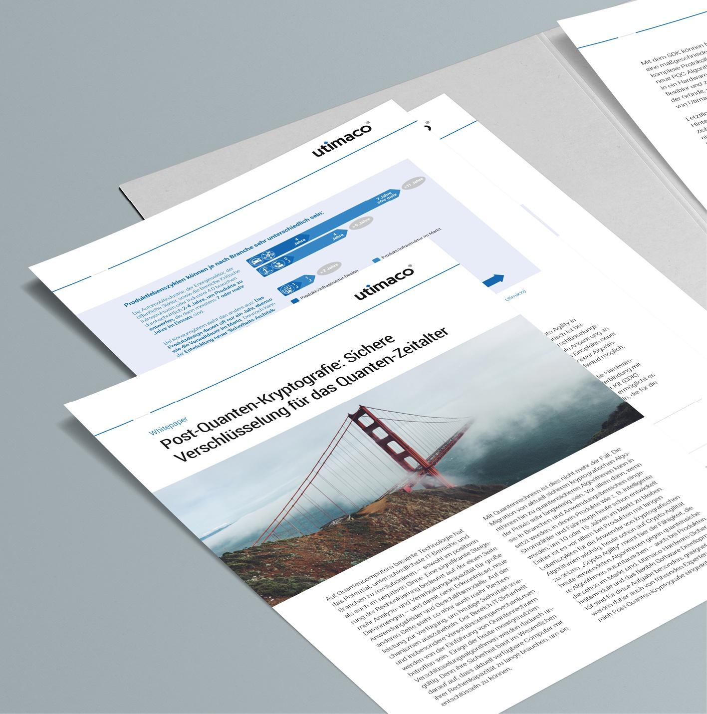 Whitepaper – Utimaco GmbH: Auftrag über Akima Media, Diverse Whitepaper – 6 bis 9-seitig in Einzelseiten, deutsch und englisch, Layoutkonzept, Umsetzung Grafikdesign, inkl. Template und Wordvorlagen