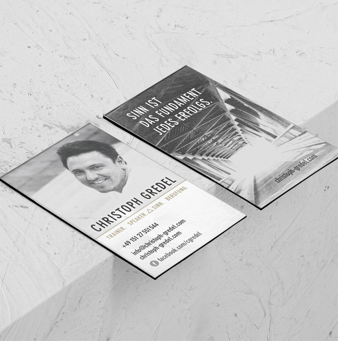 Konzept Visitenkarten, Layout, Bildbearbeitung, Reinzeichnung und Druckabwicklung