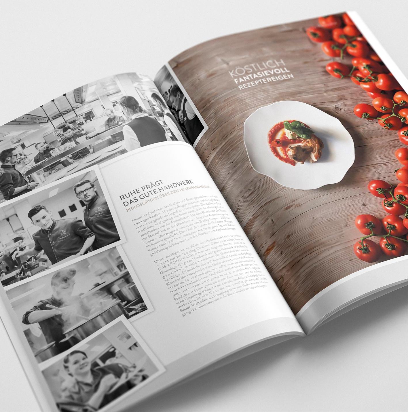 Echtzeit-Kundenmagazin aufgeschlagene Doppelseite im neuen Design