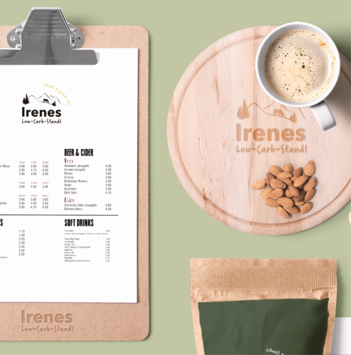 Irenes LowCarb Standl – Corporate Design