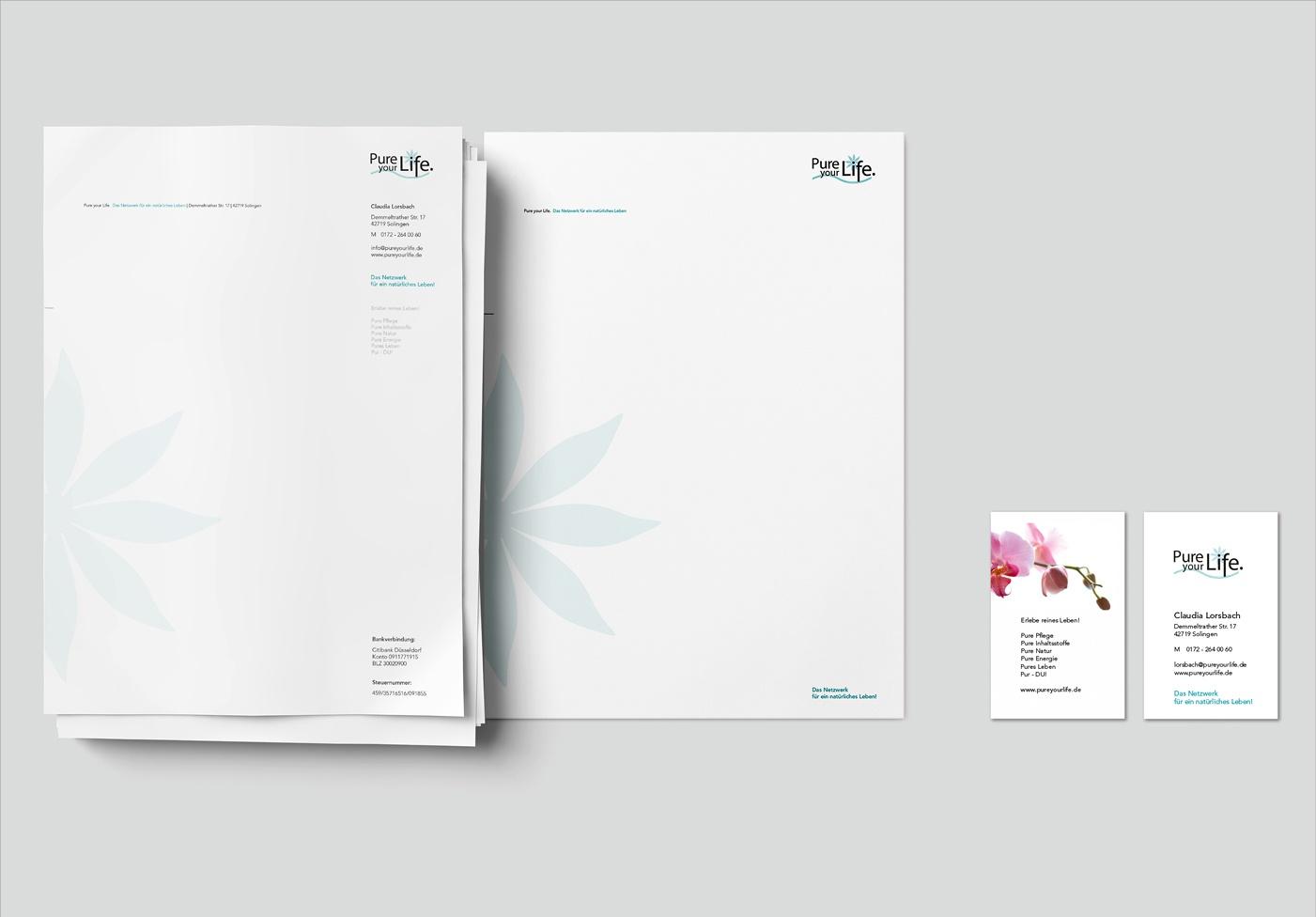 Corporate Design Pure Your Life Neue Welten Design