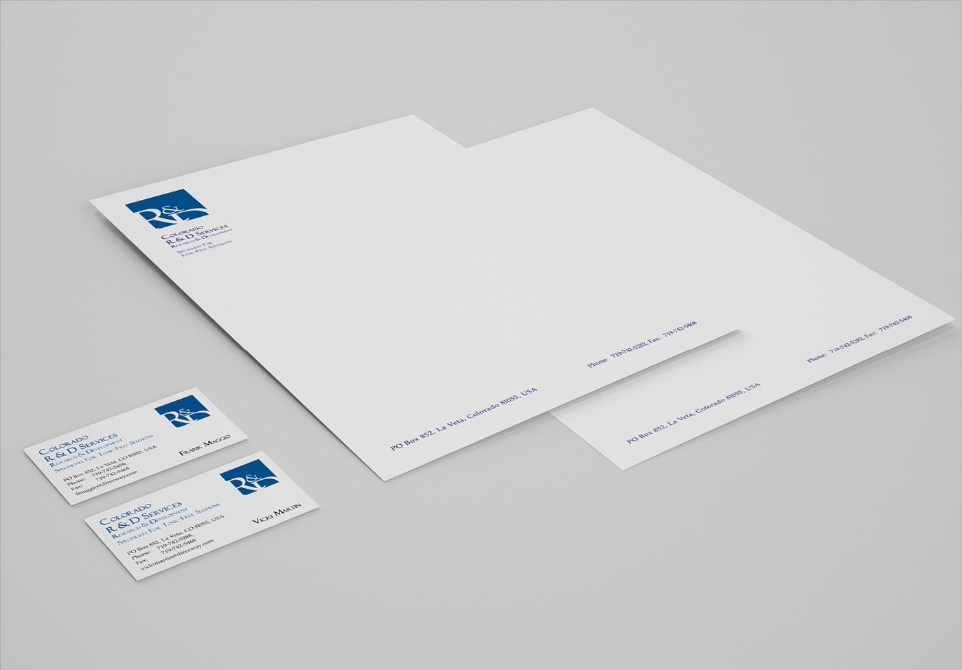 R & D Services: Corporate Design, Logo, Briefbogen, Visitenkarte