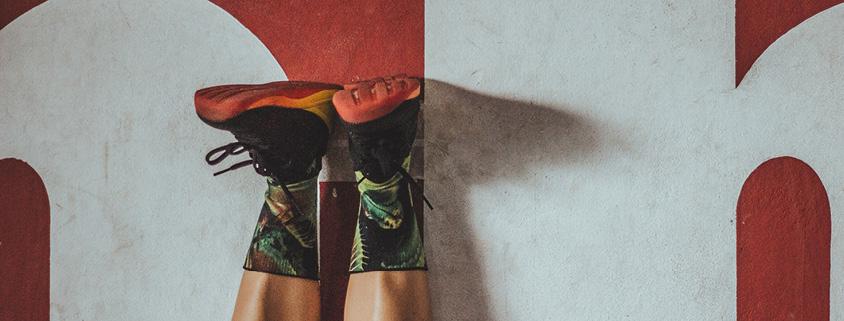 Symbolbild Positionierung: Beine vonn einem Sportler