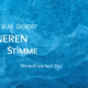 Symbolbild innere Stimme: Spruch auf Hintergundbild mit Meer