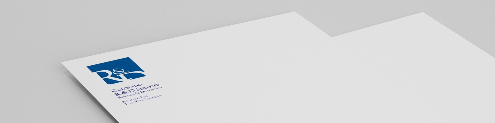 R&D Services - Corporate Design: Logo-Entwicklung, Briefbogen, Visitenkarte, Konzeption und Gestaltung der Geschäftsausstattung, Briefpapier, Layoutumsetzung, Reinzeichnung und Druckausgabe.