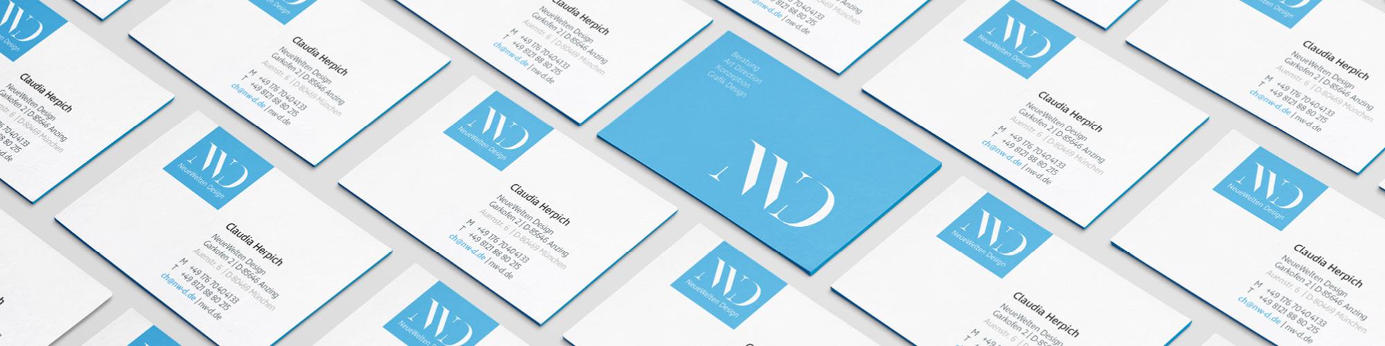 Visitenkarten Neue Welten Design